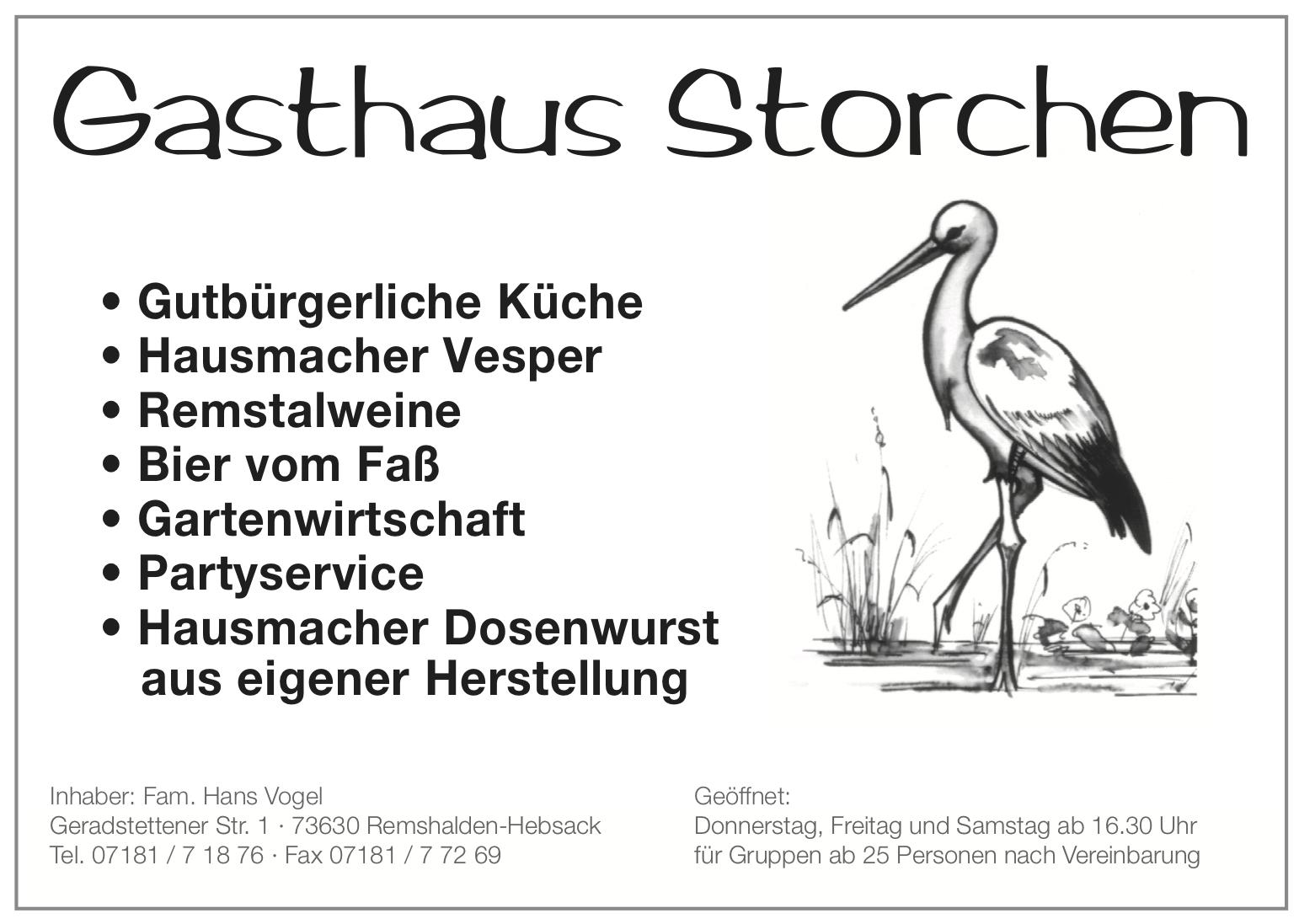 Logo Gasthaus Storchen